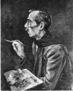 Selbstbildnis mit rotem Schal (1949)