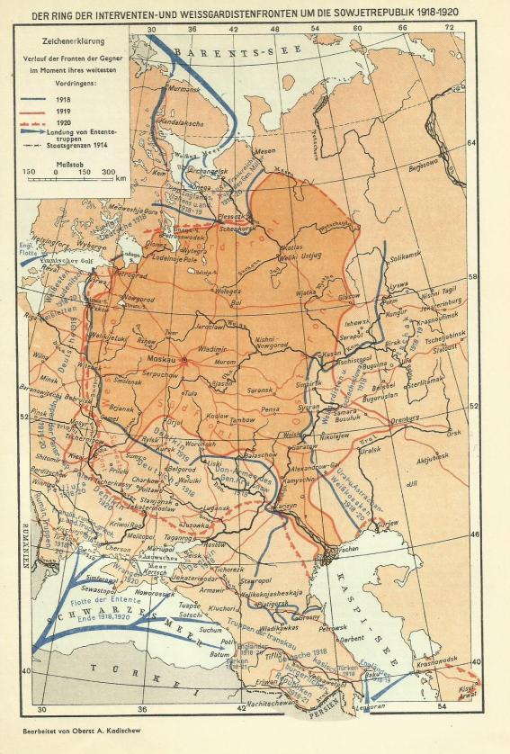 Karte Sowjetunion 1918
