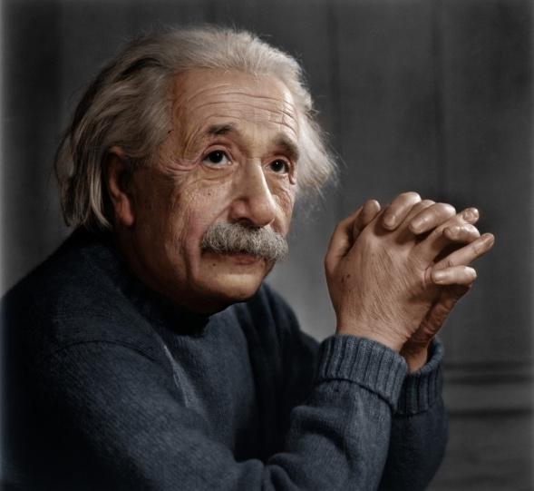 Der Physiker Albert Einstein (1879-1955)