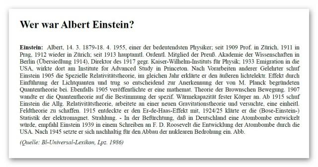 Wer war Einstein