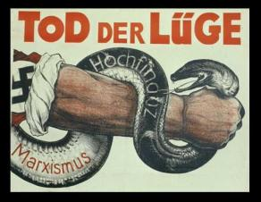ww2_hitler_nazi poster - 1930 - death to lies_cientizta