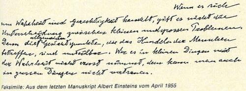 Einstein Wahrheit