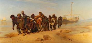 Ilja Repin (1844-1930) - Wolgatreidler