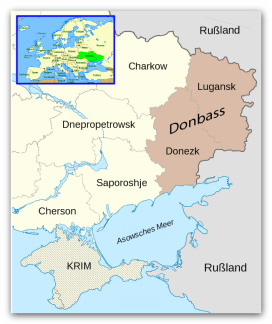 Karte Donbass