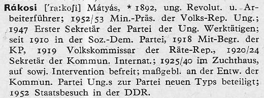 Rákosi Lexikon