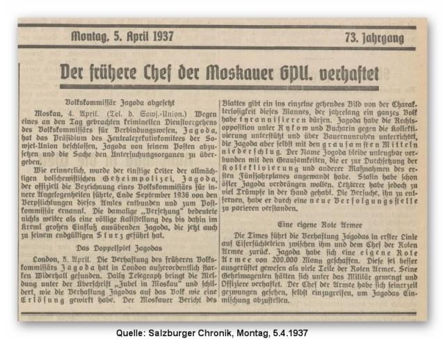 370405 Salzburger Chronik Jagoda abgesetzt