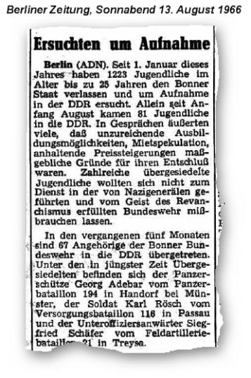 660813 BZ Aufnahme in DDR