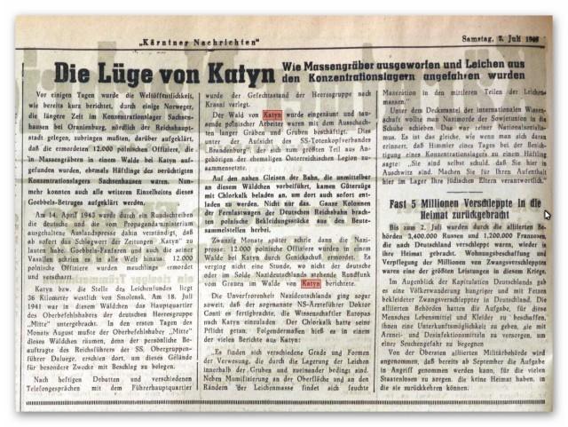450707 Kärntner Nachrichten Katyn