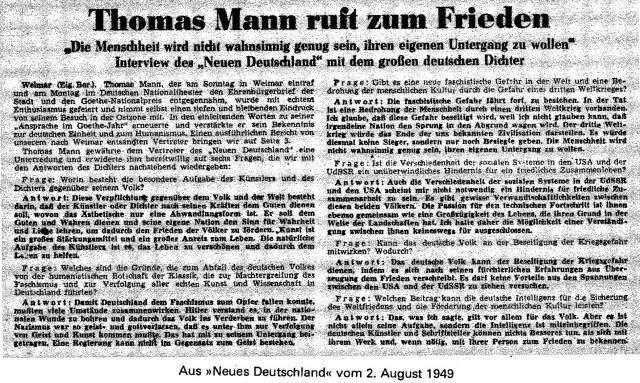 Thomas Mann Frieden