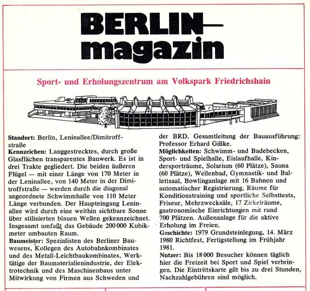Berlin-Magazin 1981