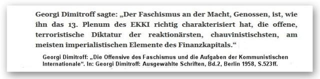 Dimitroff Faschismus