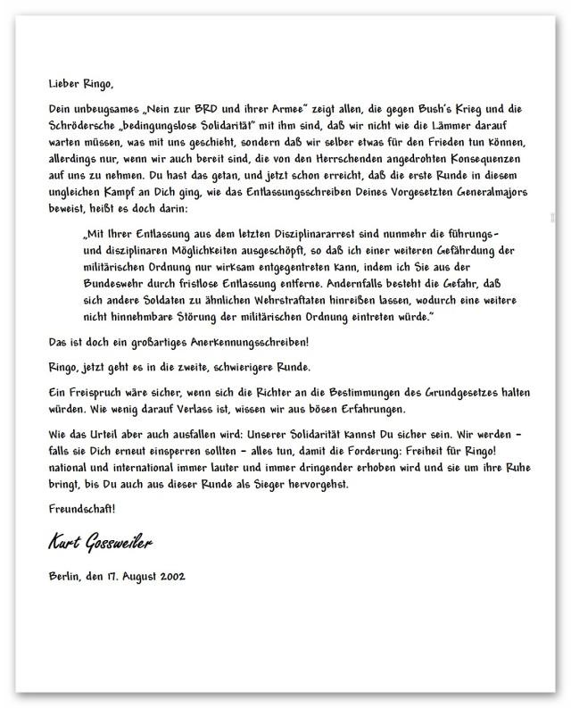 Ehlert - Stellungnahme