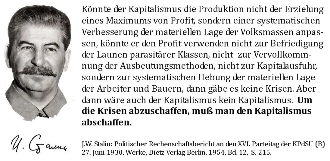 Stalin - Kapitalismus abschaffen