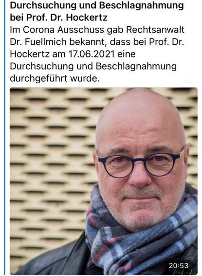 Repressalien gegen Prof Hockertz