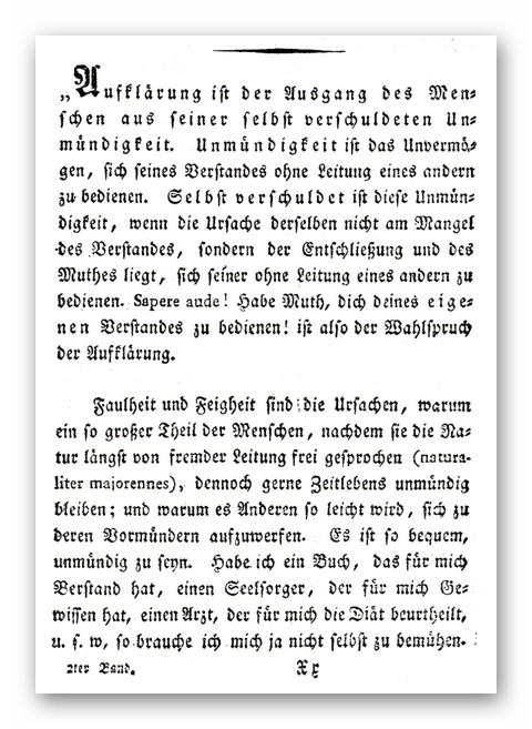 Kant - Aufklarung